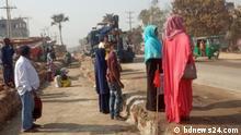 Bangladesch Strasse nach Rajshahi