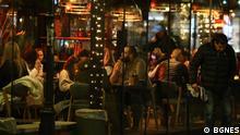 Bulgarien Sofia volle Restaurants nach Lockerung