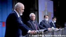 Belgien PK Josep Borel und Edi Rama