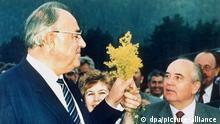 Sowjetunion Helmut Kohl zu Arbeitsbesuch im Kaukasus