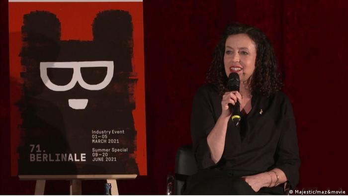 Maria Schrader bei der Vorstellung ihres Films Ich bin dein Mensch