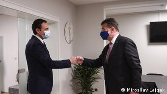Mirosllav Lajcak und Albin Kurti