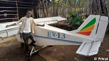 Biruk Bekele is a young innovator and mechanical engineer who tried to design and build his airplane called EW-!3 and drones.