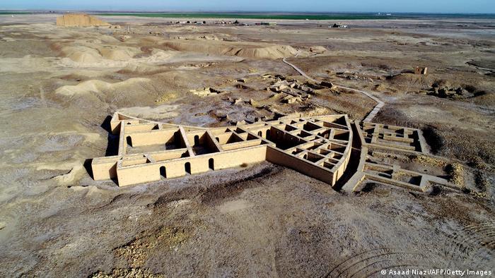 Ciudad arqueológica de Ur, Irak, vista desde arriba