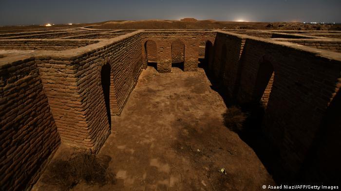 interior de los restos arqueológicos de la ciudad de Ur