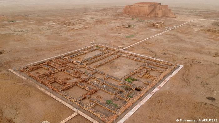 La ciudad arqueológica de Ur vista desde arriba