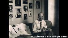 Museum für Gestaltung Zürich | René Hubert: The Clothes Make the Star René Hubert at his studio at Paramount Pictures, 1932, Collection Cinémathèque Suisse