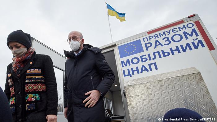 Президент Європейської Ради Шарль Мішель на Донбасі (Щастя) 2 березня 2021