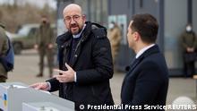 Президент Європейської Ради Шарль Мішель та президент України Володимир Зеленський