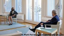 Finnland Swetlana Tichanowskaja trifft Präsident Sauli Niinisto