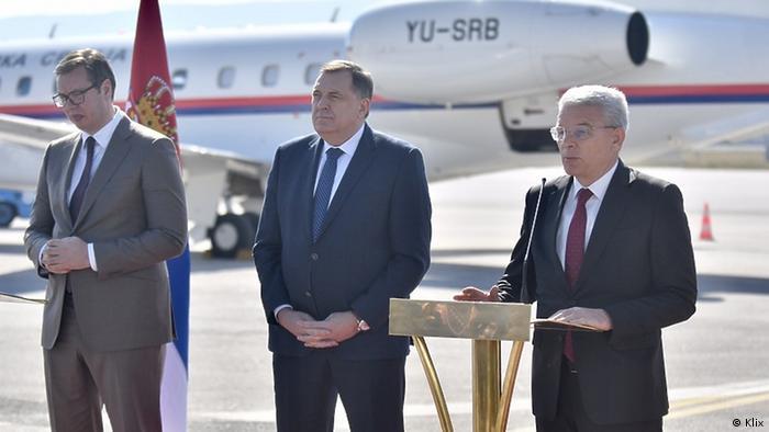 Impfstoffspende Serbiens an Sarajevo | Präsident Serbiens Aleksandar Vucic
