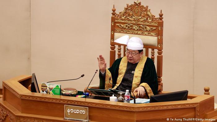 Auch Myanmars Parlamentschef T. Khun Myatt befindet sich derzeit in der Gewalt des Militärs
