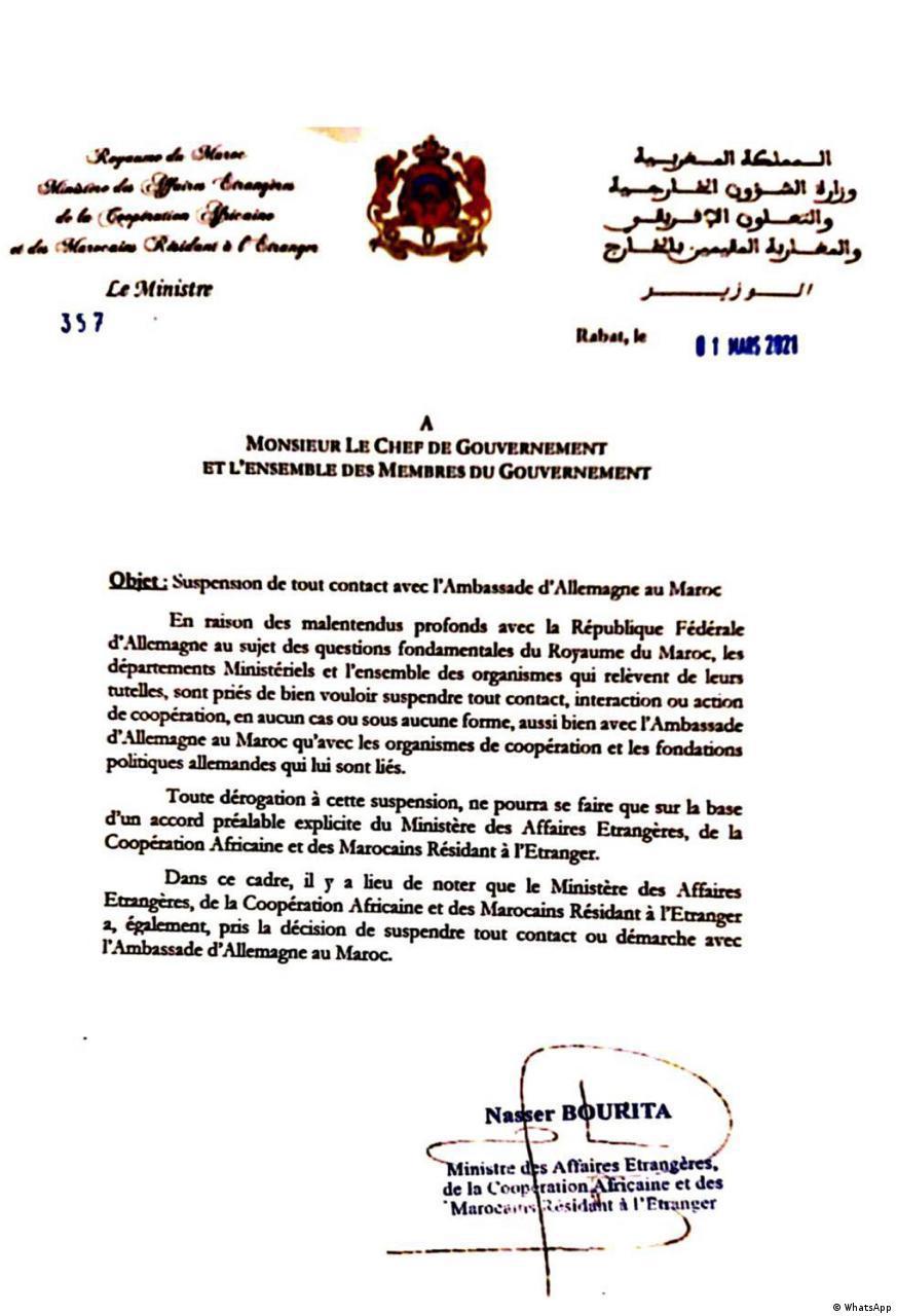 Deutschland Marokko Krise der diplomatischen Beziehungen