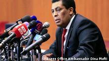 ***ACHTUNG: Bild nur zur bgesprochenen Berichterstattung verwenden!*** via Mantegaftot Sileshi Siyoum Ambassador Dina Mufti, Spokesperson of The Ministry of Foreign Affairs of Ethiopia . Rechte: Press Office Ambassador Dina Mufti
