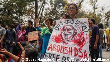 Bangladesch Dhaka | Demonstration nach Tod von Mushtaq Ahmed in Polzeigewahrsam