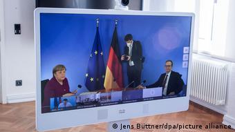 Видеоконференция канцлера ФРГ Ангелы Меркель и премьер-министров федеральных земель, фото из архива