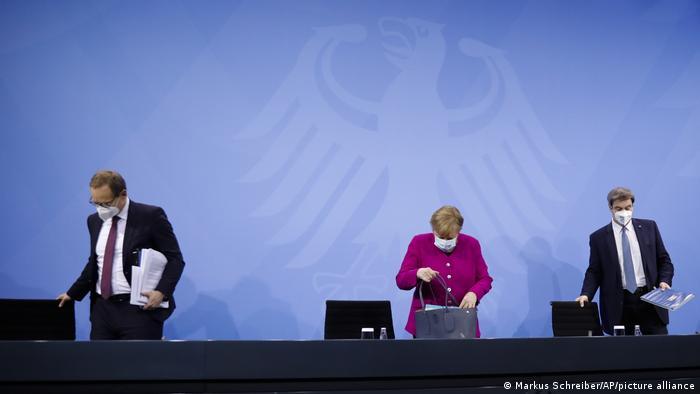 Pressekonferenz I Coronavirus I Angela Merkel I Michael Mueller I Markus Soeder