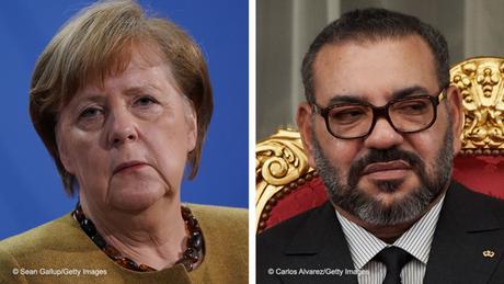 Bildkombo Kanzlerin Angela Merkel und König Mohammed VI von Marokko