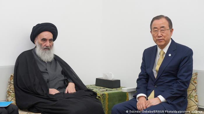 Grand Ayatollah Ali al-Sistani and Ban Ki-moon