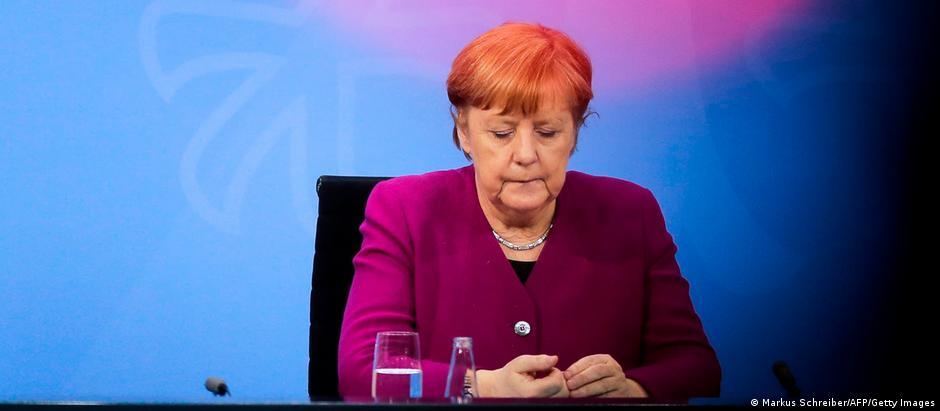 Cancelara Angela Merkel, la capătul consultărilor cu premierii de land (3.03.2021)