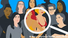 Illustration zu Googles Bildsuche nach Frauen