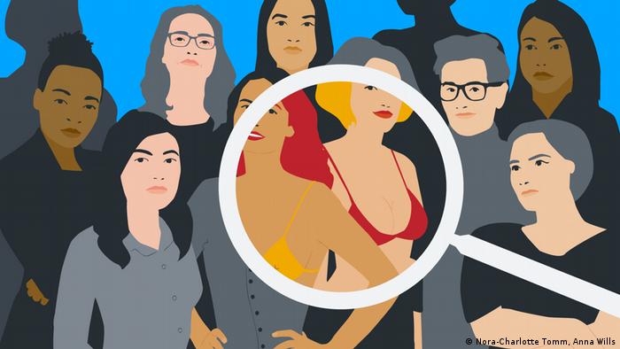 صور توضيحية لنساء من محرك البحث غوغل