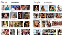 Screenshots of Google image search results for German vs Brazilian women