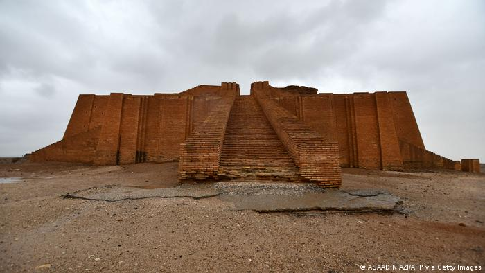 Ruins of the Great Ziggurat temple in the ancient city of Ur.
