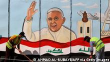 Irak Wandmalerei Papst Franziskus
