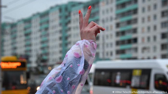 Женская акция протеста в Минске