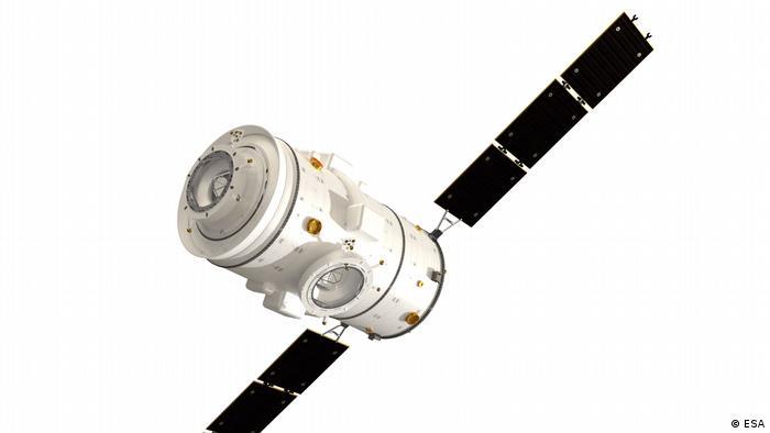 Die zylindrische, weiße Raumkapsel I-Hab wird als Habitat Modul Teil des Lunar Gateway, der Weltraumstation im Mondorbit sein.