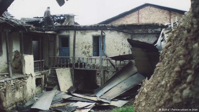یکی از خانههای تخریبشده بهاییان در روستای ایول مازندران