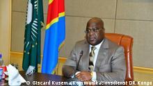 Treffen zwischen dem kongolesischen Präsidenten Félix Tshisekedi und der neuen Sonderbeauftragten des UN-Generalsekretärs in der Demokratischen Republik Kongo, Bintou Keita. Das Treffen fand am Donnerstag, den 4. März 2021 in Kinshasa statt. Copyright: Giscard Kusema, Kommunikationsdienst der Präsidentschaft der Republik.