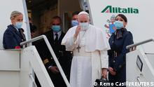 Italien Abflug Papst Franziskus in den Irak