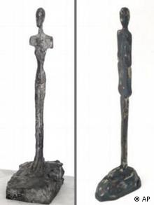 Bronzeskulptur von Alberto Giacometti und Kopie
