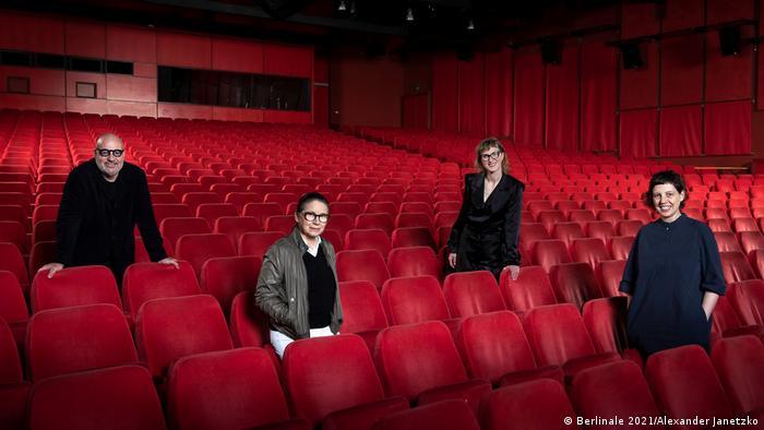 Berlinale jury members Gianfranco Rosi, Ildiko Enyedi, Jasmila Zbanic, Adina Pintilie