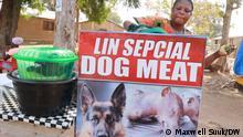Ghana   Verkaufsboom Hundefleisch