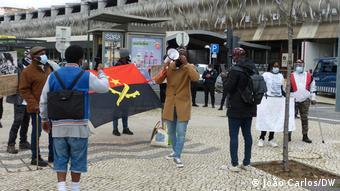 Portugal, Lissabon   Proteste von Patienten aus Angola