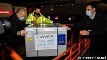 Republik Moldau Ankunft von Impfstoffen über die Covax-Initiative in Chisinau