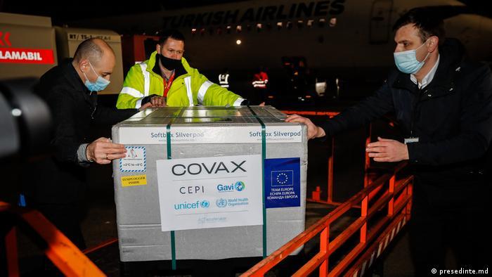 Vaccinuri livrate Moldovei prin platforma Covax