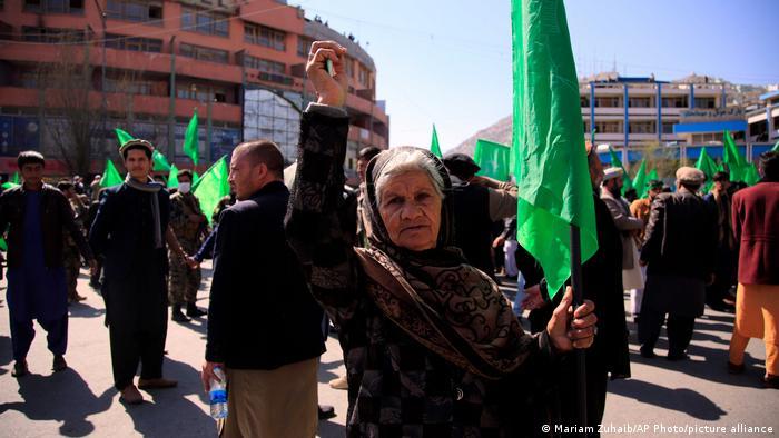 Afghanistan | Kabul | Proteste Anhänger von Gulbeddin Hekmatyar