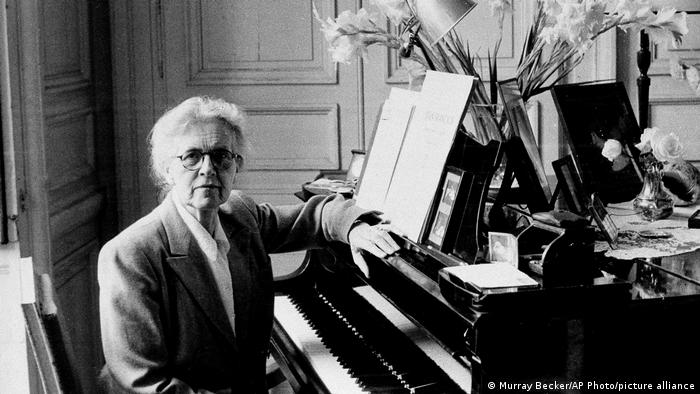 Organist, composer and teacher Nadia Boulanger sitting at the piano in 1962.