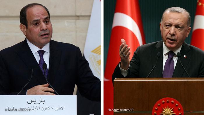 Kombibild Fattah al-Sisi und Recep Tayyip Erdogan