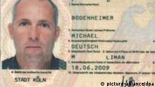 An identity card photograph released by Dubai's police on 24 February 2010 allegedly shows German passport holder Michael Bodenheimer, one of the suspects in the killing of a leading Hamas official. Police in Dubai announced 24 February 2010 that they have identified 15 new suspects in the January murder of leading Hamas official Mahmoud al-Mabhouh in the city-state. Three of the additional suspects used Australian passports, al-Arabiya television said, adding that the rest arrived from six different European countries and Hong Kong. Police said that 14 of the suspects used credit cards issued by the same bank. The announcement came soon after Dubai police said they would release 'new and exciting details' on their investigation into the murder of al-Mabhouh, who was found dead in his hotel room in Dubai on 20 January 2010. EPA/DUBAI POLICE HANDOUT BEST QUALITY AVAILABLE EDITORIAL USE ONLY/NO SALES +++(c) dpa - Bildfunk+++