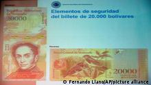 Venezuela I 20.000 Bolivar Banknote