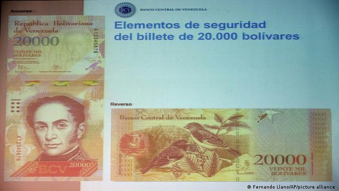 Венесуэльская банкнота 20 тысяч боливаров