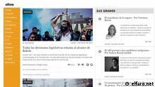 Screenshot Online Zeitung elfaro