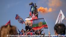 Chile Santiago Proteste Baquedano Statue