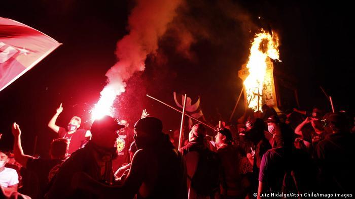 Foto de protesta en Chile