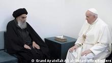 Irak Najaf | Besuch Papst Franziskus | Treffen mit Großajatollah Ali al-Sistani